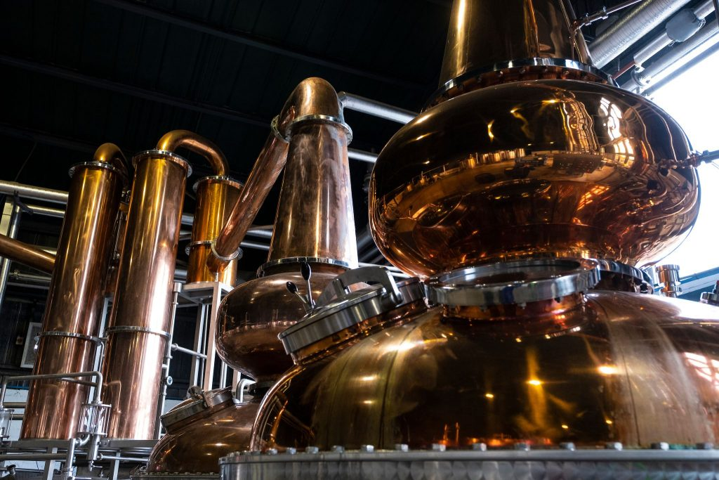 the stills at Arbikie Distillery