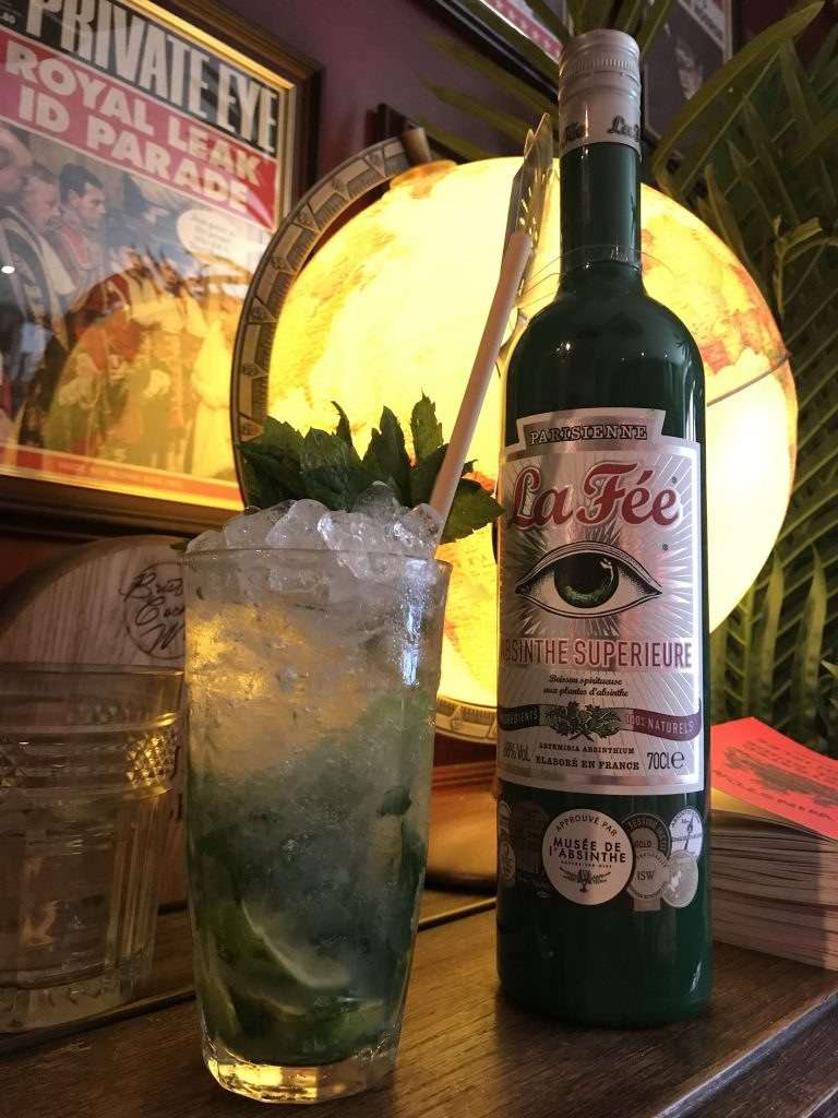 The French Mojito made with La Fee absinthe