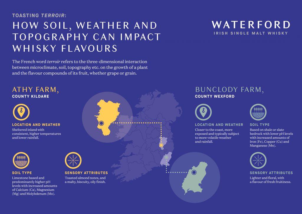 Waterford Terroir in whisky infographic