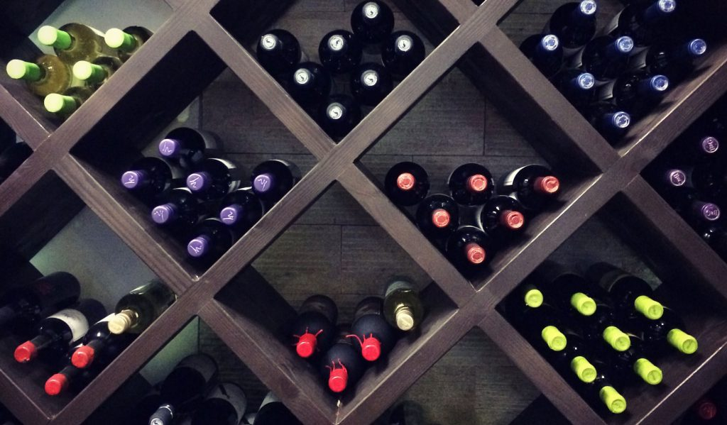 A wine rack filled with wine - Winebuyers
