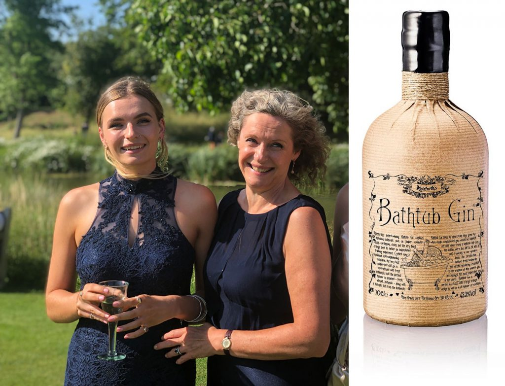 Jess, her mum and a Mother's Day treat in the form of Bathtub Gin!