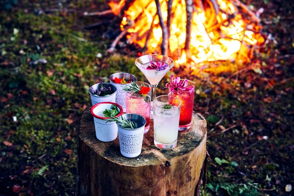 Some lovely foraged cocktails made with The Botanist gin