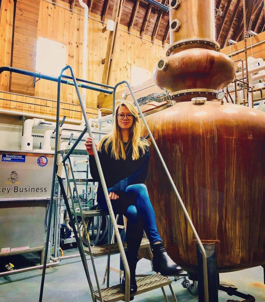 Kristiane Sherry at WhistlePig distillery