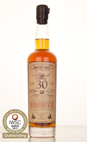 Master of Malt 30 Year Old Speyside IWSC 2013