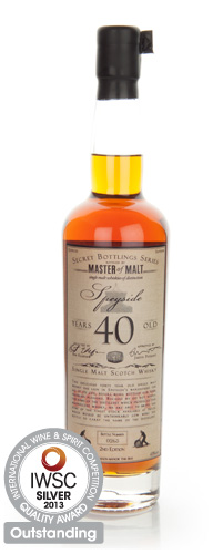 Master of Malt 40 Year Old Speyside IWSC 2013