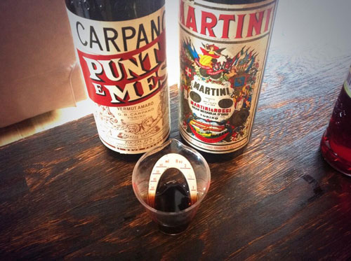 Master of Cocktails 1970s Punt e Mes and 1970s Martini