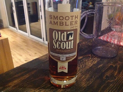 Master of Cocktails Bourbon Vanilla Shake Old Scout 7 Year Old Bourbon
