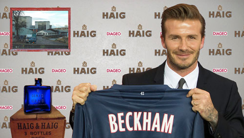 Beckham signs for Haig Club