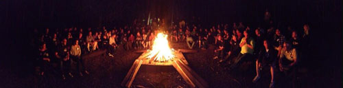 Bonfire panorama