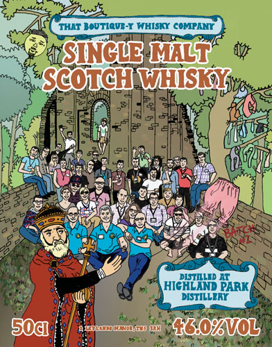 That Boutique-y Whisky Company Highland Park Batch 2 label