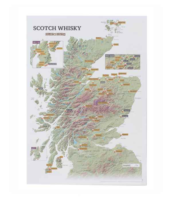 Scotch Whisky Collect & Scratch Map