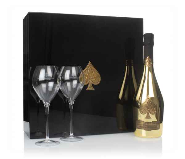 Armand de Brignac Blanc Ace of Spades Gold Gift Pack with 2x Glasses