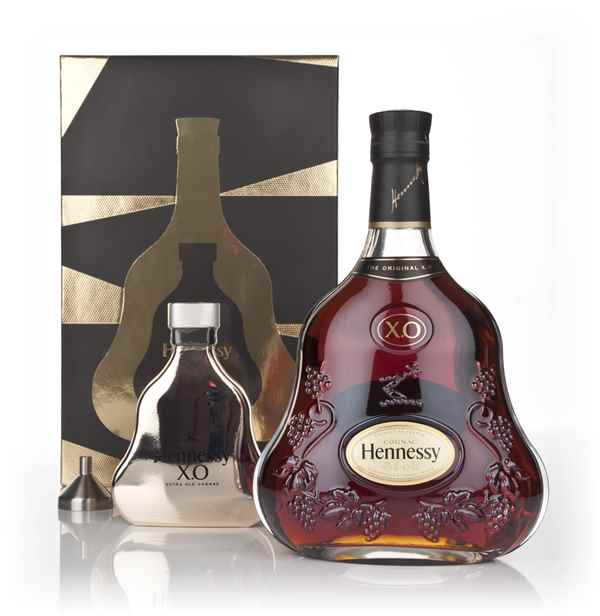 Hennessy XO with Hip Flask and Funnel