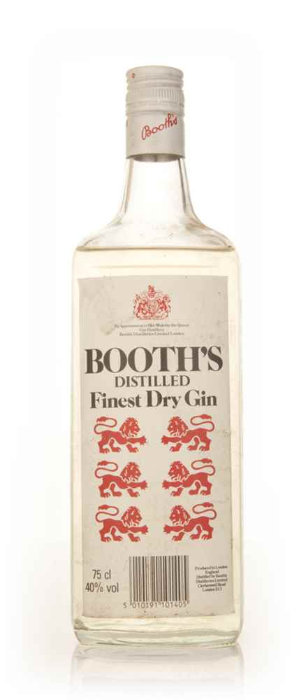 Booth's Finest London Dry Gin - 1980s