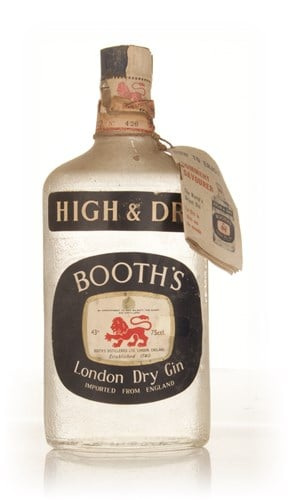 Booth's High & Dry London Dry Gin - 1950s