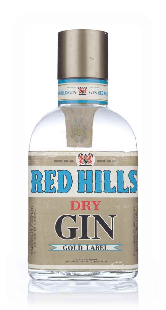 Red Hills Dry Gin Gold Label - 1960s
