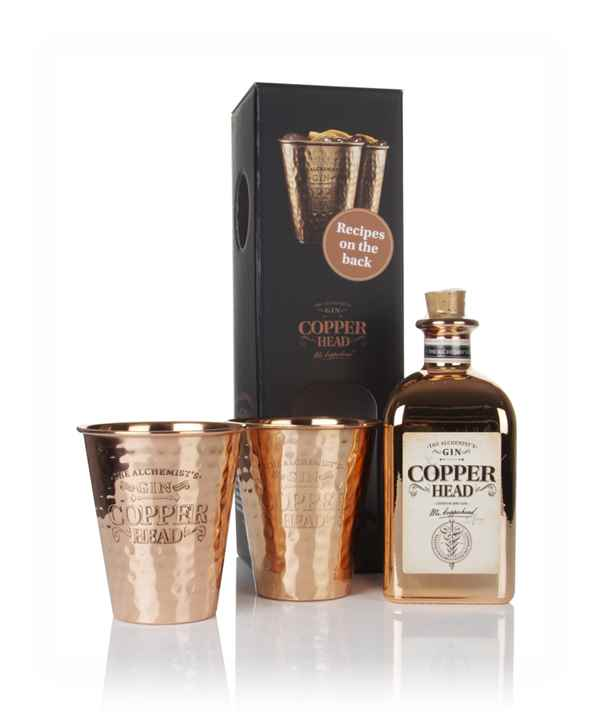 Copperhead Gin Gift Pack with 2x Copper Cups