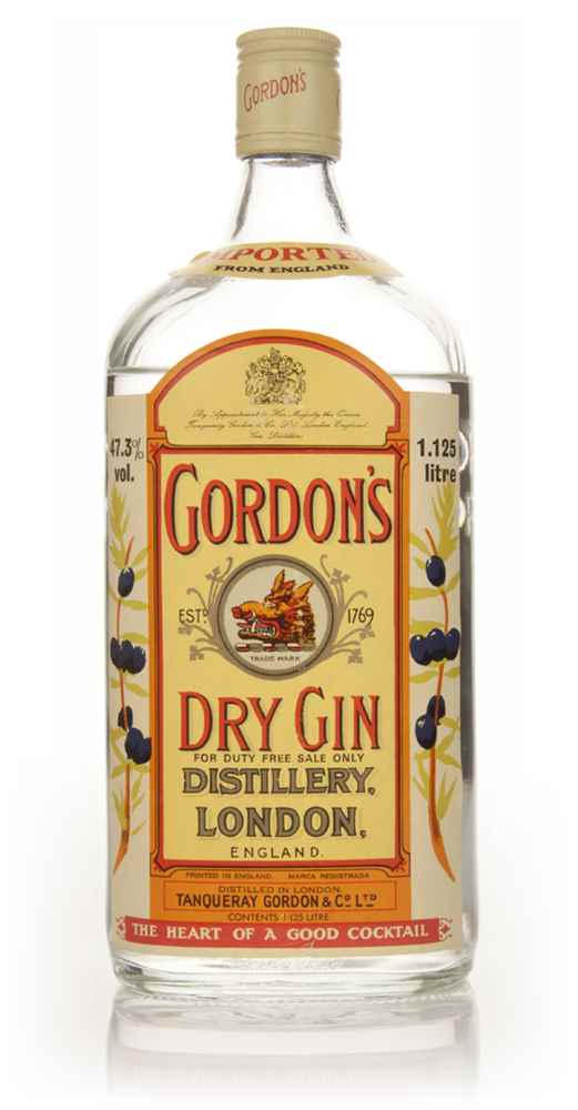 Gordon's London Dry Gin 1.125L - 1970s (Low Fill Level)
