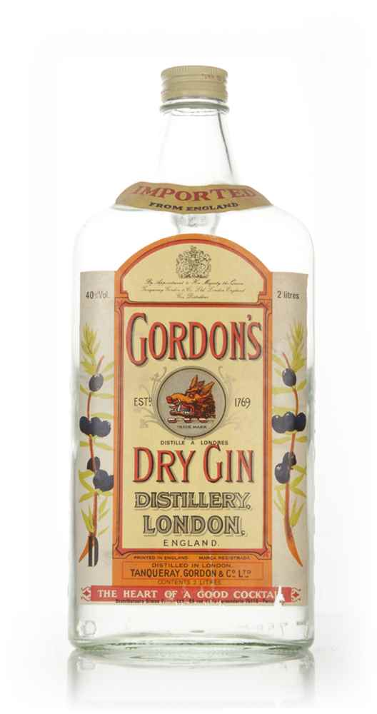 Gordon's London Dry Gin 2l - 1970s