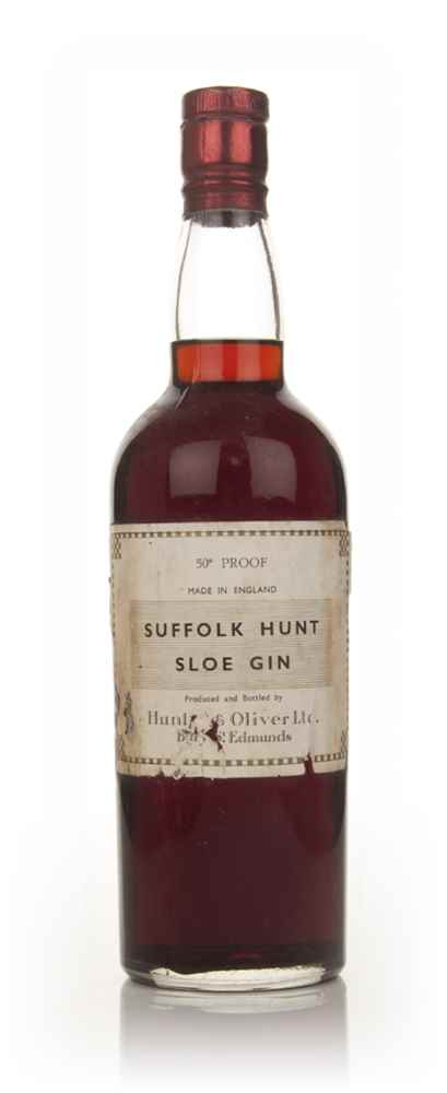Suffolk Hunt Sloe Gin - 1950's