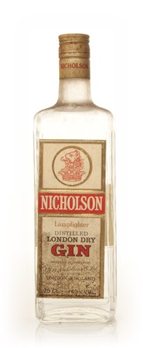Nicholson Lamplighter London Dry Gin - 1970s