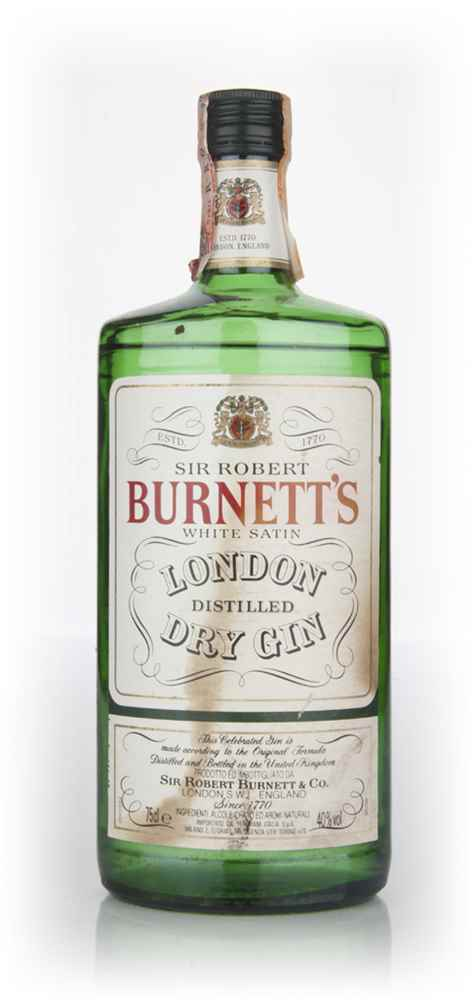 Burnett's White Satin Gin - 1970s (Faded Label)