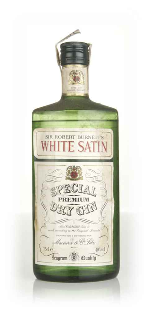 Burnett's White Satin Gin - 1970s