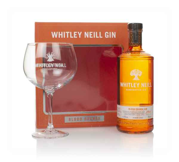 Whitley Neill Blood Orange Gin Gift Pack with Glass