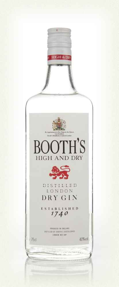Booth's High & Dry London Dry Gin - 1990s