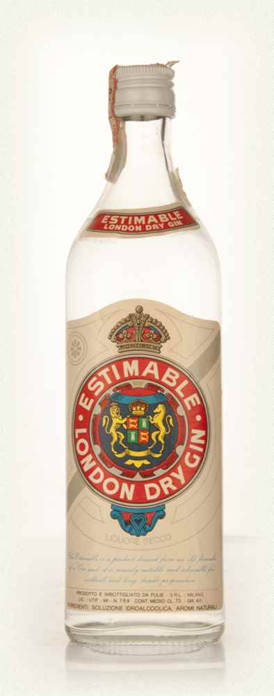 Estimable London Dry Gin - 1960s