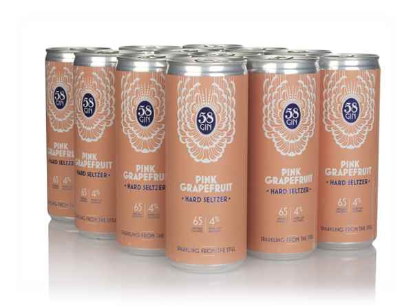 58 Gin Pink Grapefruit Hard Seltzer (12 x 250ml)