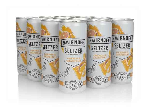 Smirnoff Orange & Grapefruit Seltzer (12 x 250ml)