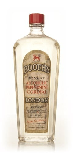 Booth's Alcoholic Peppermint Cordial - 1960s