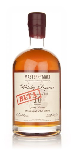 Master of Malt 10 Year Old Speyside Whisky Liqueur Beta