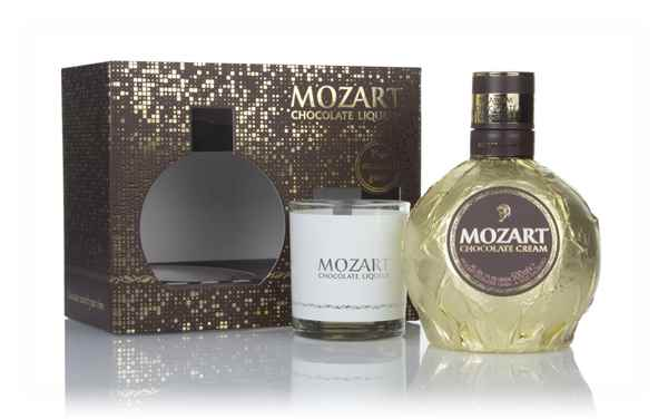 Mozart Gold Chocolate Cream Liqueur Gift Pack with Glass