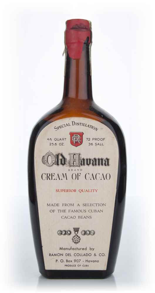 Old Havana Cream of Cacao - 1940s