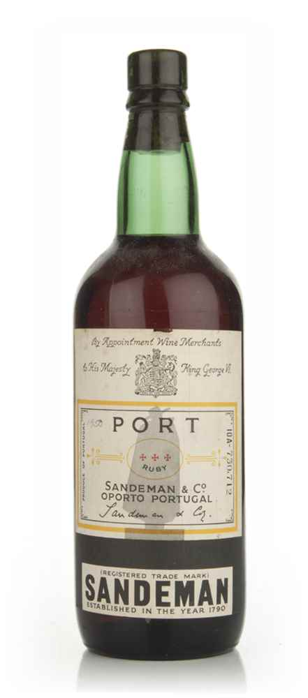 Sandemans Ruby Port - 1950s