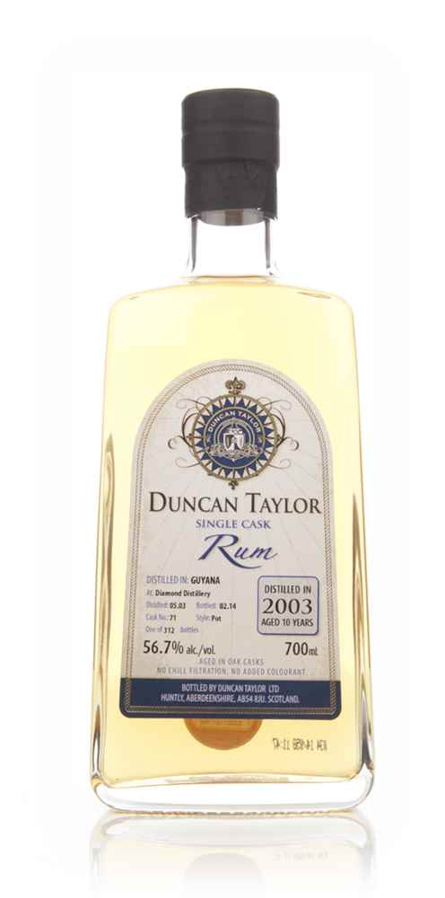 Diamond 10 Year old 2003 (cask 71) - Single Cask Rum (Duncan Taylor)