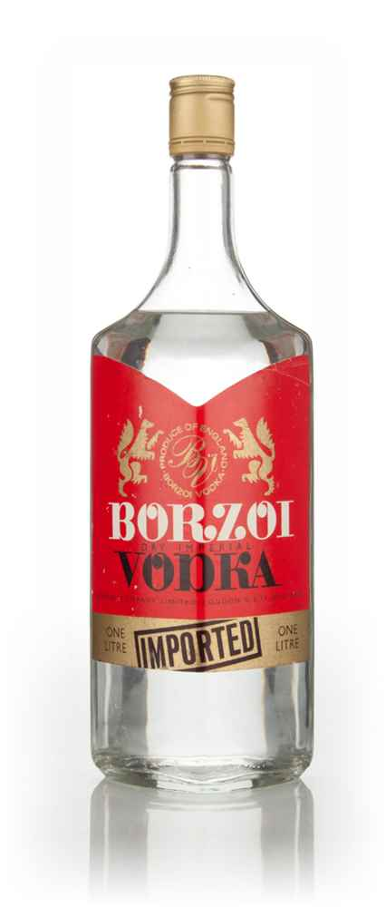 Borzoi Dry Imperial Vodka - 1970s