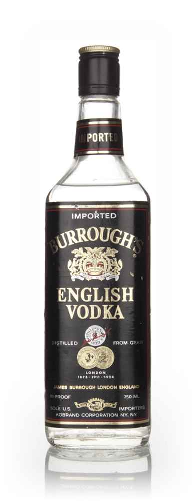 Burrough's English Vodka - 1970s