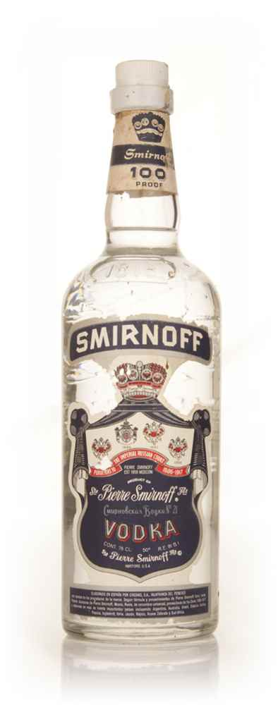 Smirnoff Blue Label Vodka - 1960s