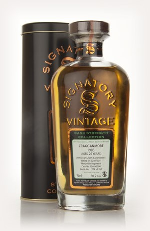 Cragganmore 26 Year Old 1985 Casks 1224 + 1990- Cask Strength Collection (Signatory)