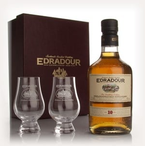 Edradour 10 Year Old With 2 Glasses