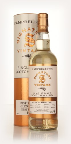 Glen Scotia 21 Year Old 1991 (cask 1077) (Signatory)