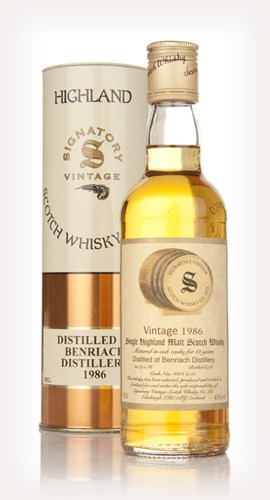 BenRiach 12 Year Old 1986 35cl (Signatory)
