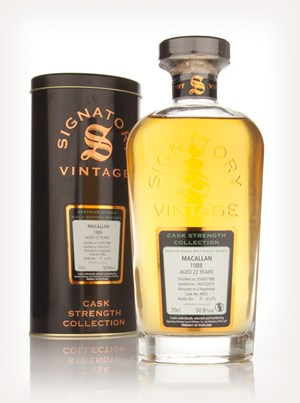 Macallan 22 Year Old 1988 Cask 4952 - Cask Strength Collection (Signatory)