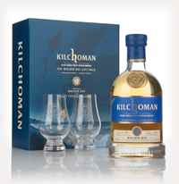 Kilchoman Machir Bay 2014 Release Gift Pack With Two Branded Glasses