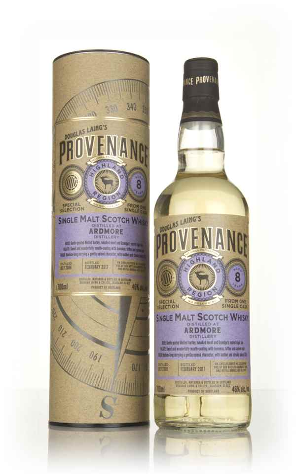 Ardmore 8 Year Old 2008 (cask 11632) - Provenance (Douglas Laing)