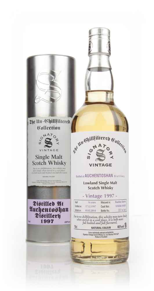 Auchentoshan 16 Year Old 1997 (casks 101838+101839) - Un-Chillfiltered (Signatory)