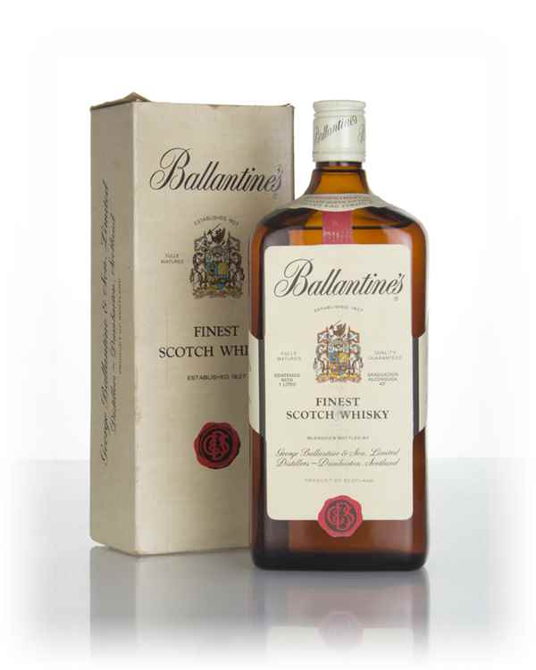 Ballantine's Finest 1L (Boxed) - 1970s